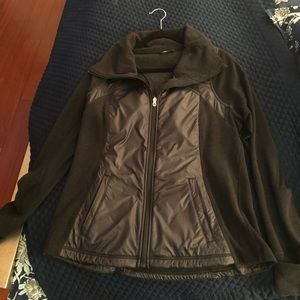 LULULEMON RUN fleece & reflective wind breaker zip